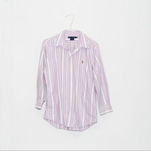 Ralph Lauren Button Down Shirr Slim Fit Womens 12